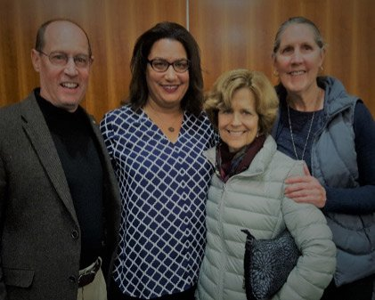 Chuck Berghoff, Dr. Rochelle Woods, Sue Berghoff and Robin Shepherd