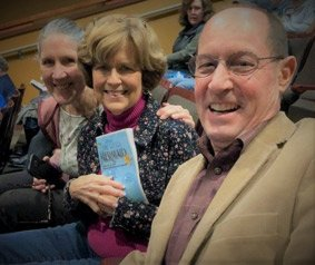 "Robin Shepherd with Sue & Chuck Berghoff waiting to see Kyle in ""The Little Mermaid Jr"""